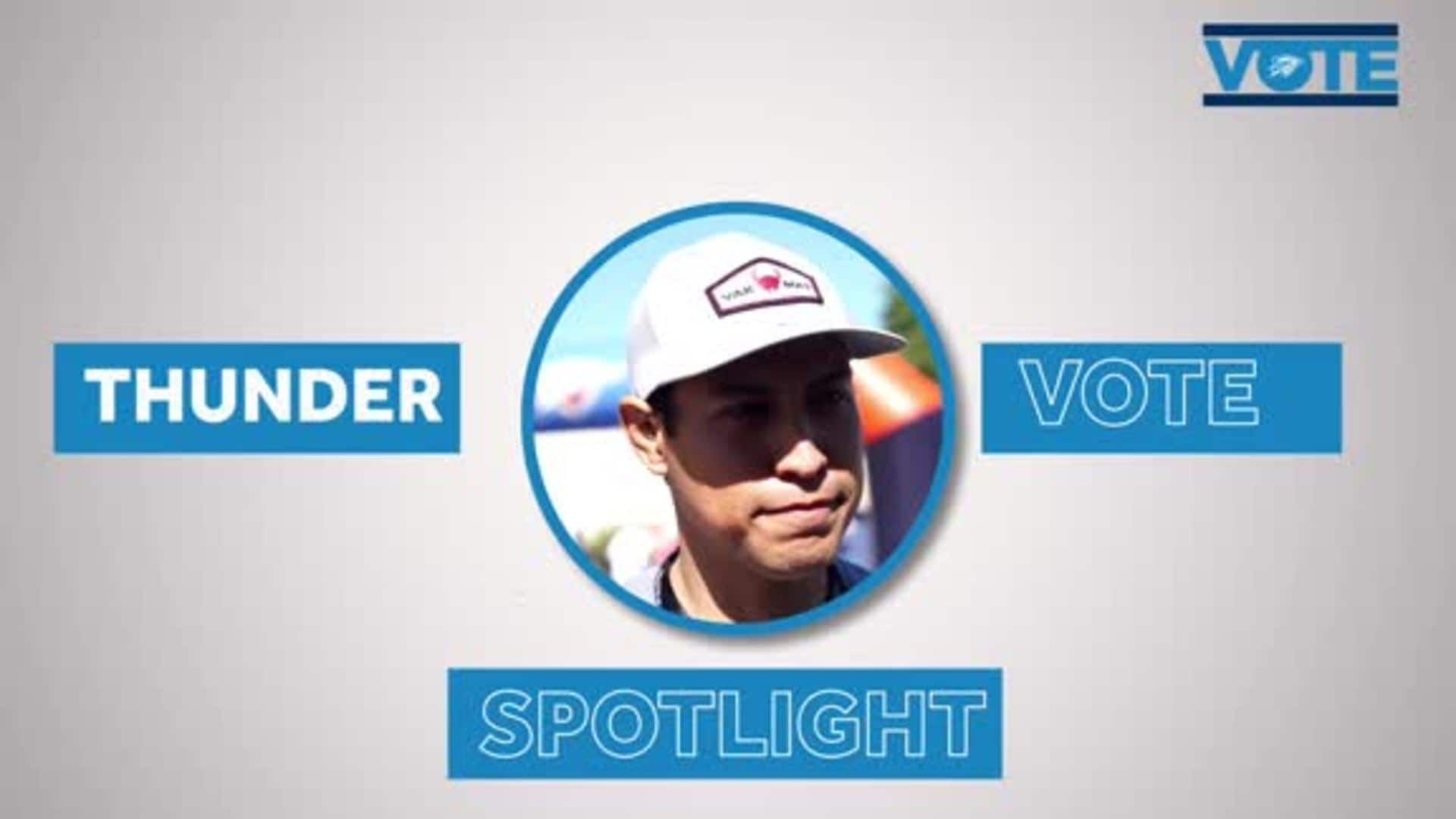 Thunder VOTE Spotlight: 'It's My Duty'