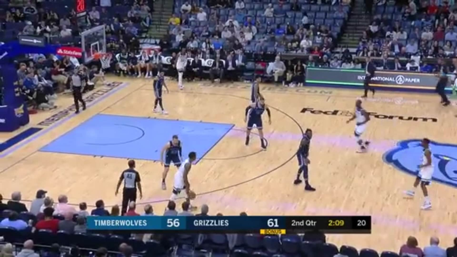Highlights | Wolves 121, Grizzlies 137 (11.6.19)