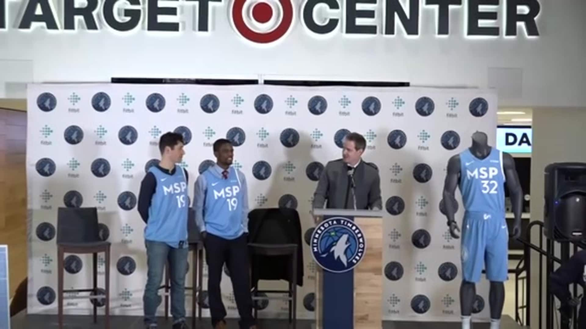 Timberwolves Unveil 2019-20 Cities Edition Uniform Press Conference