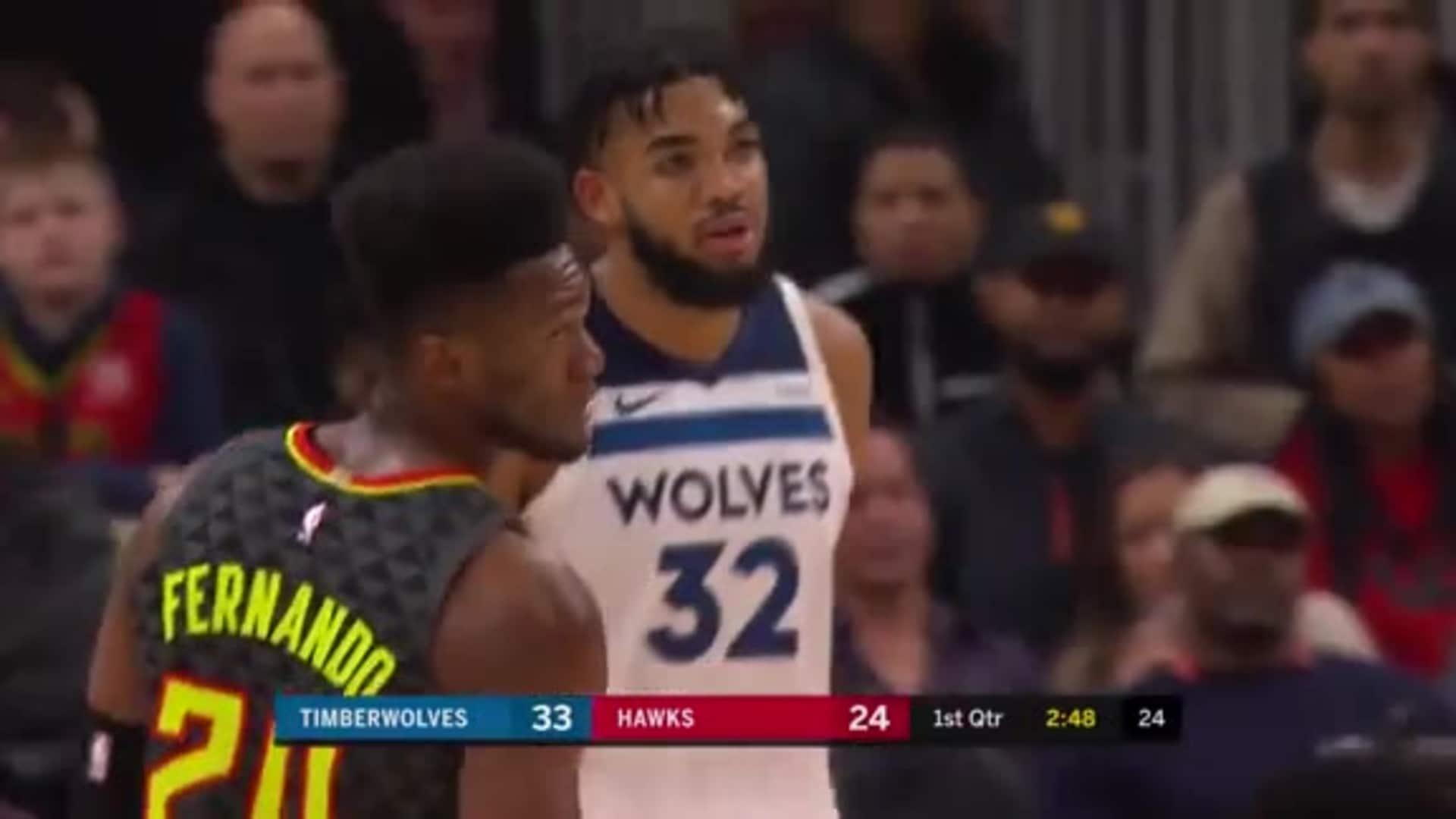 Highlights   Karl-Anthony Towns 28 Points, 13 Rebounds, 8 Assists, 2 Blocks vs. Hawks (11.25.19)
