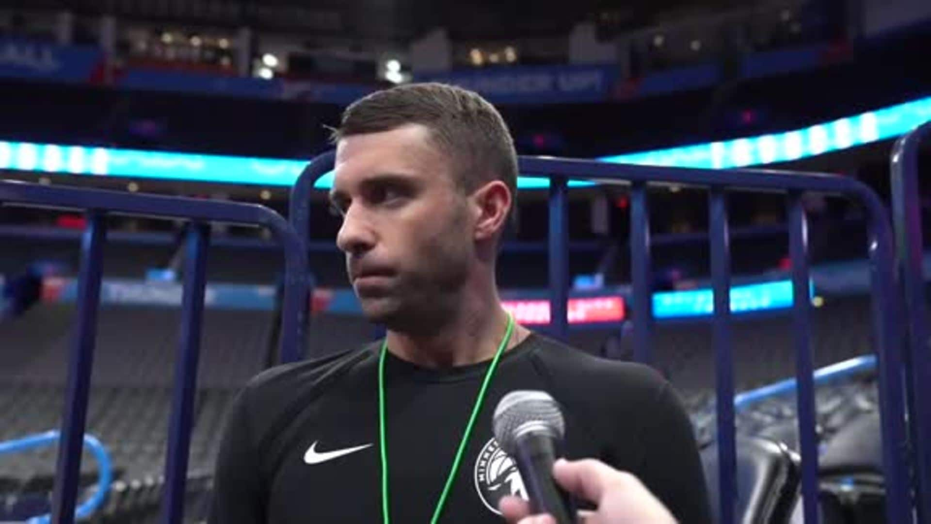 Ryan Saunders On Status Of Andrew Wiggins And Karl-Anthony Towns vs. Thunder (12.6.19)