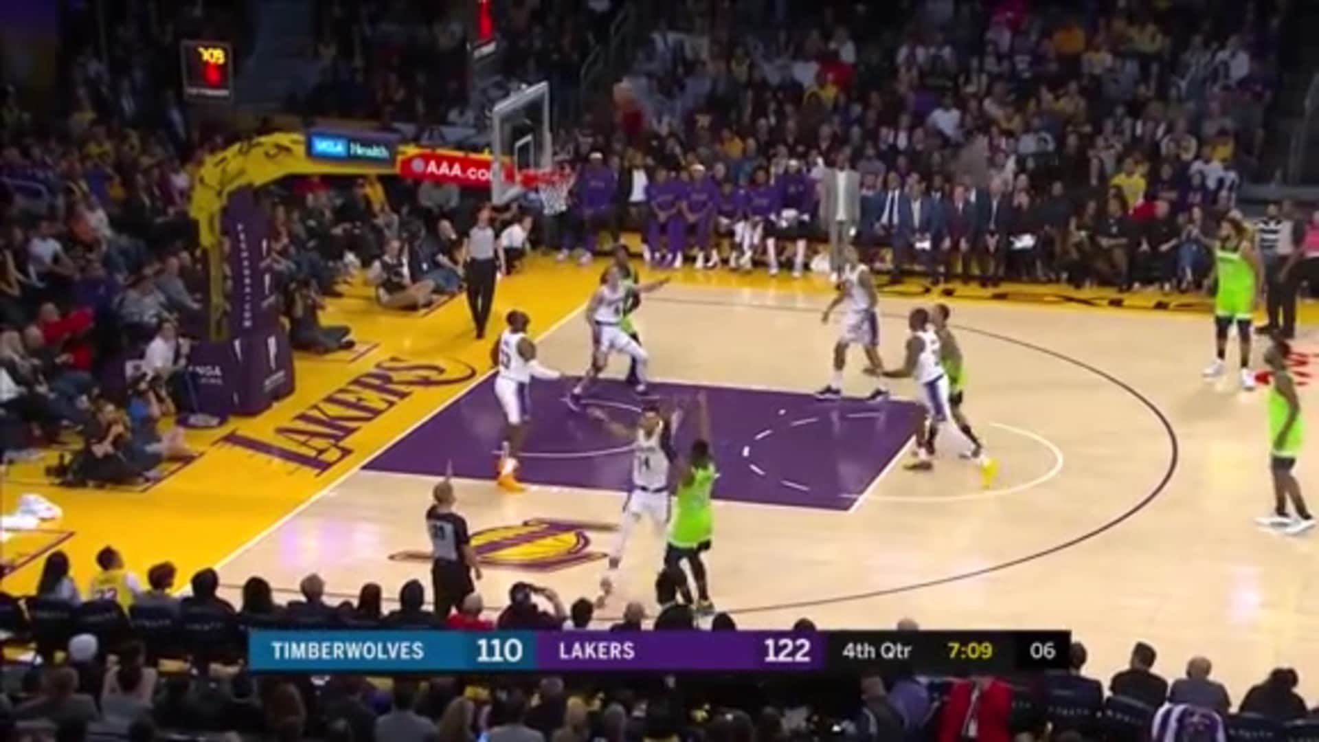 Highlights | Lakers 142, Timberwolves 125 (12.8.19)