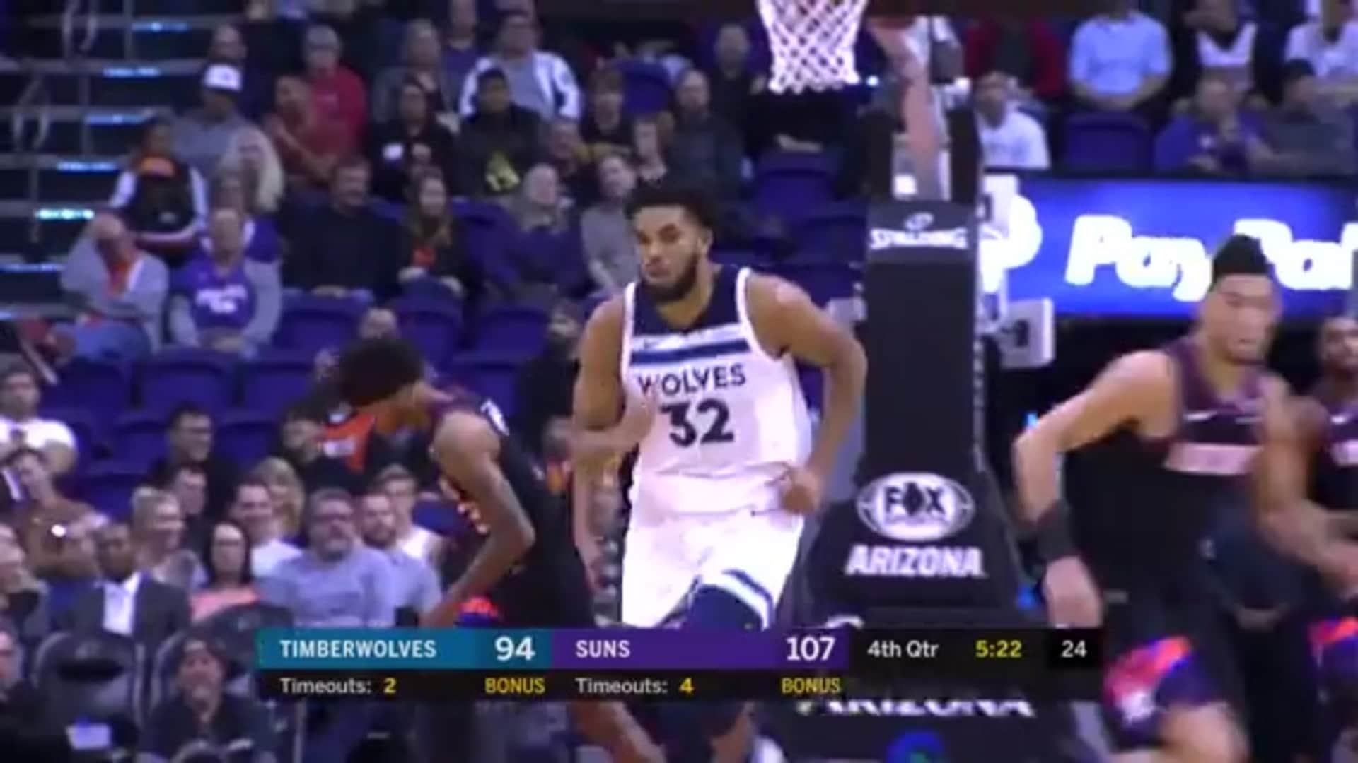 Highlights | Karl-Anthony Towns 33 Points, 15 Rebounds, 2 Blocks vs. Suns (12.9.19)
