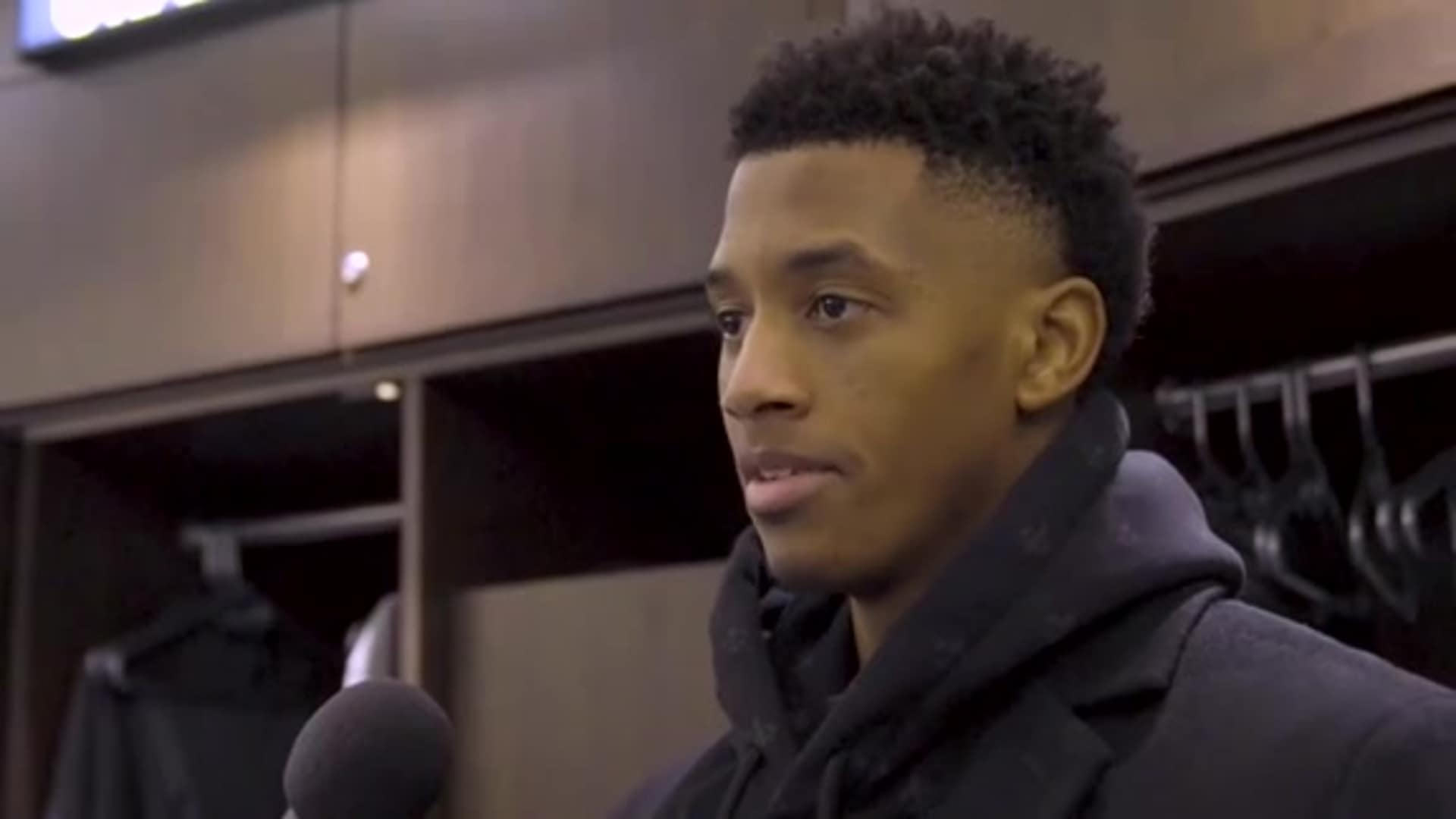Rookie Jarrett Culver After 21 Points vs. Nets (12.30.19)
