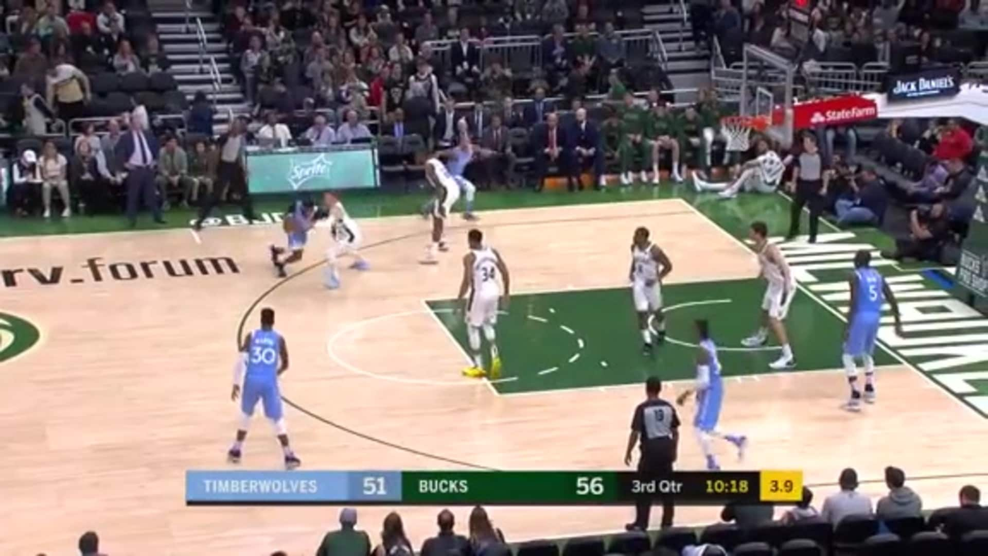 Highlights | Timberwolves 104, Bucks 106 (1.1.20)