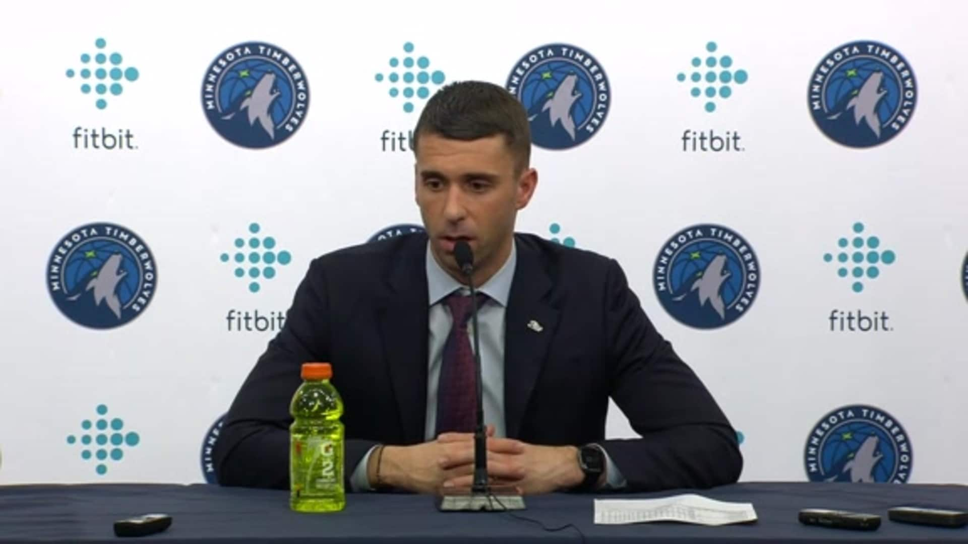 Timberwolves Coach Ryan Saunders After Win Over Warriors: 'Guys Are Playing Hard' (1.2.20)