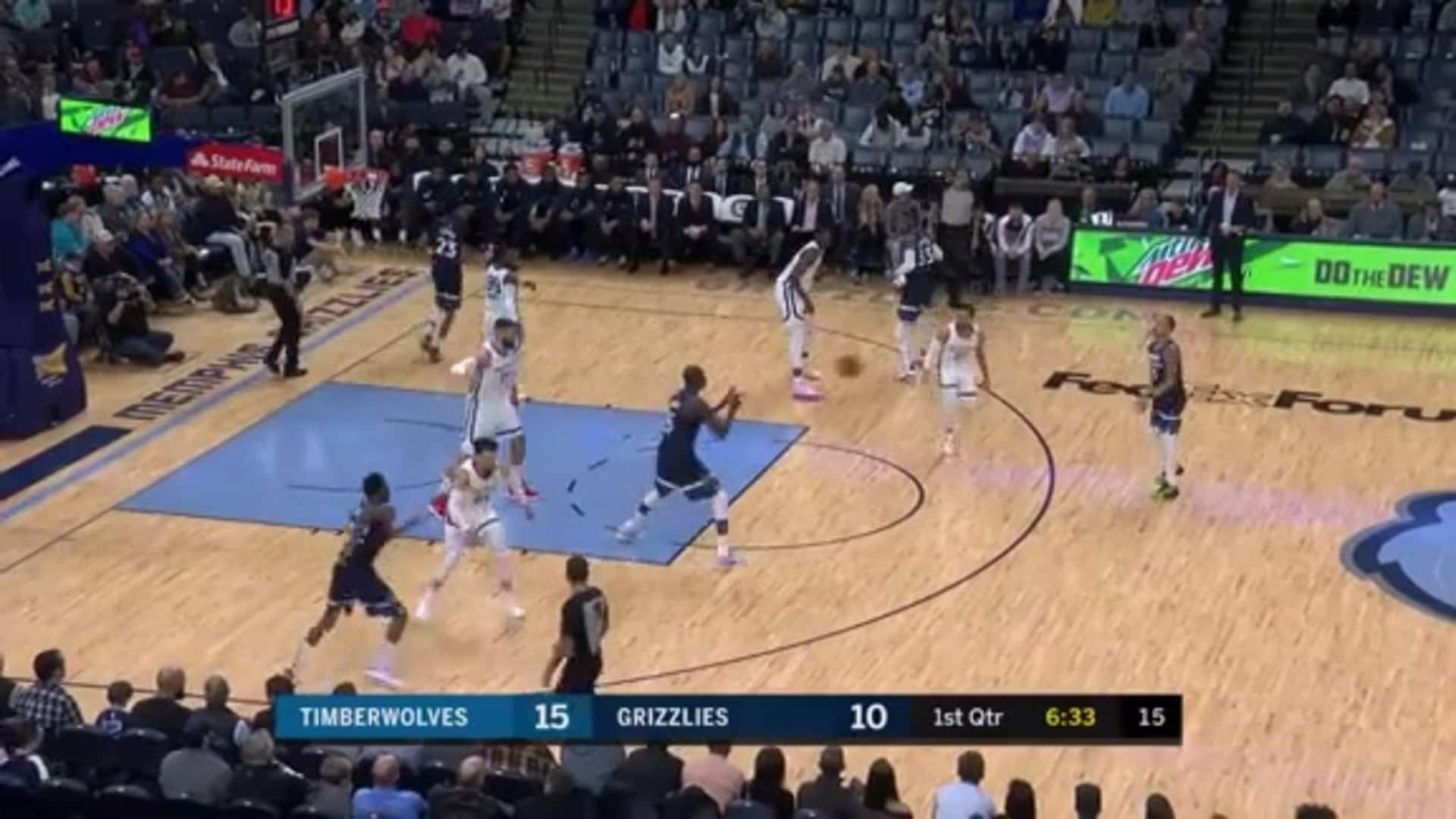 Dieng With The Backdoor Dime To Wiggins