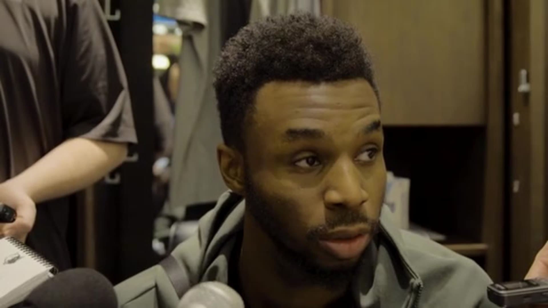 Andrew Wiggins After Loss To Thunder (1.13.20)