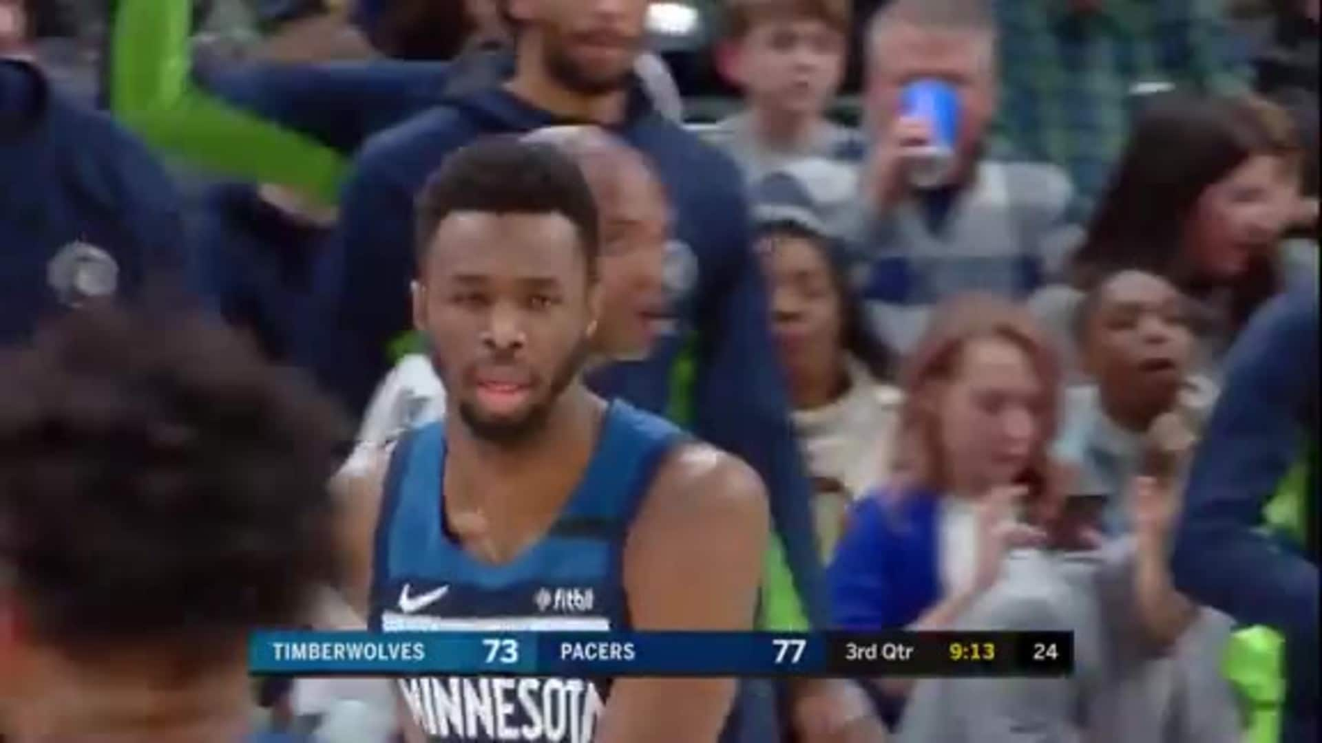 Napier Hits Wiggins For The 3