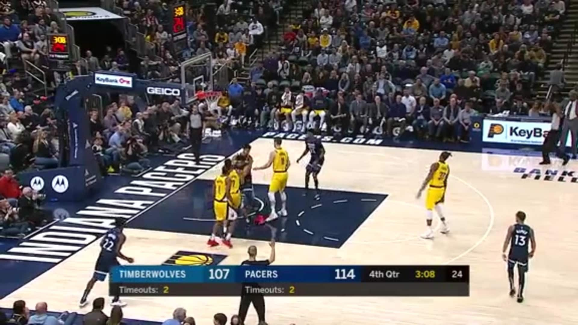 Highlights | Wolves 114, Pacers 116 (1.17.20)