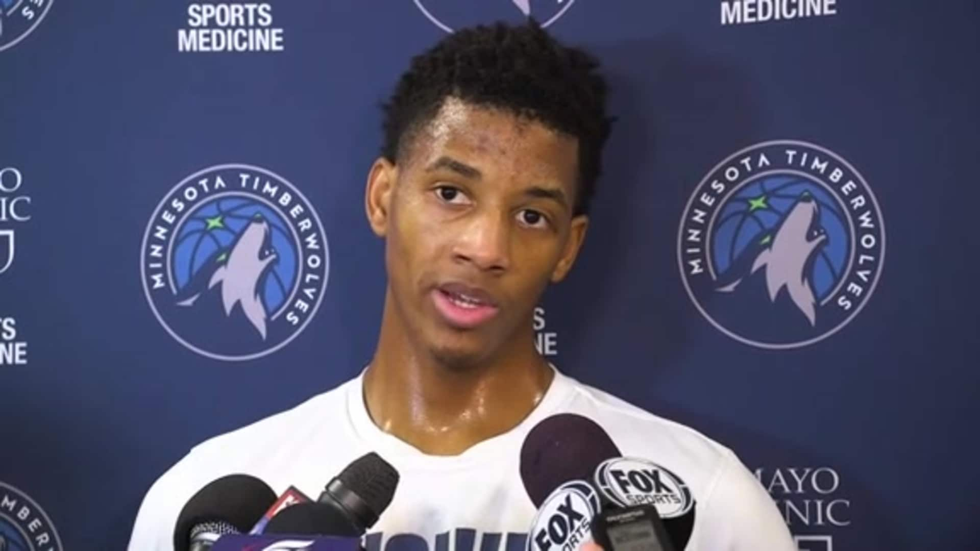 Timberwolves Rookie Jarrett Culver Practice Availability (1.21.20)