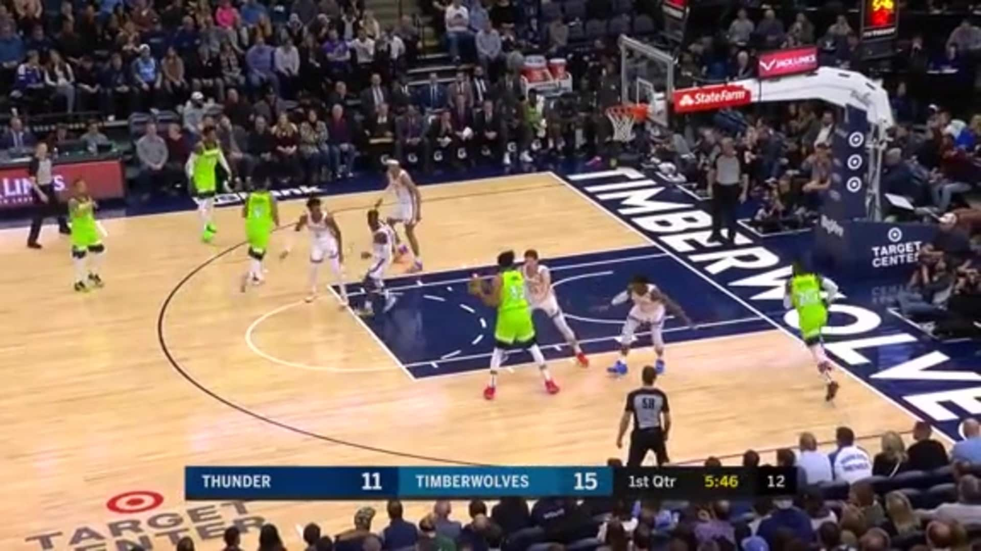 Highlights | Karl-Anthony Towns 37 Points, 8 Rebounds, 6 Assists, 2 Steals, 2 Blocks vs. Thunder (1.25.20)