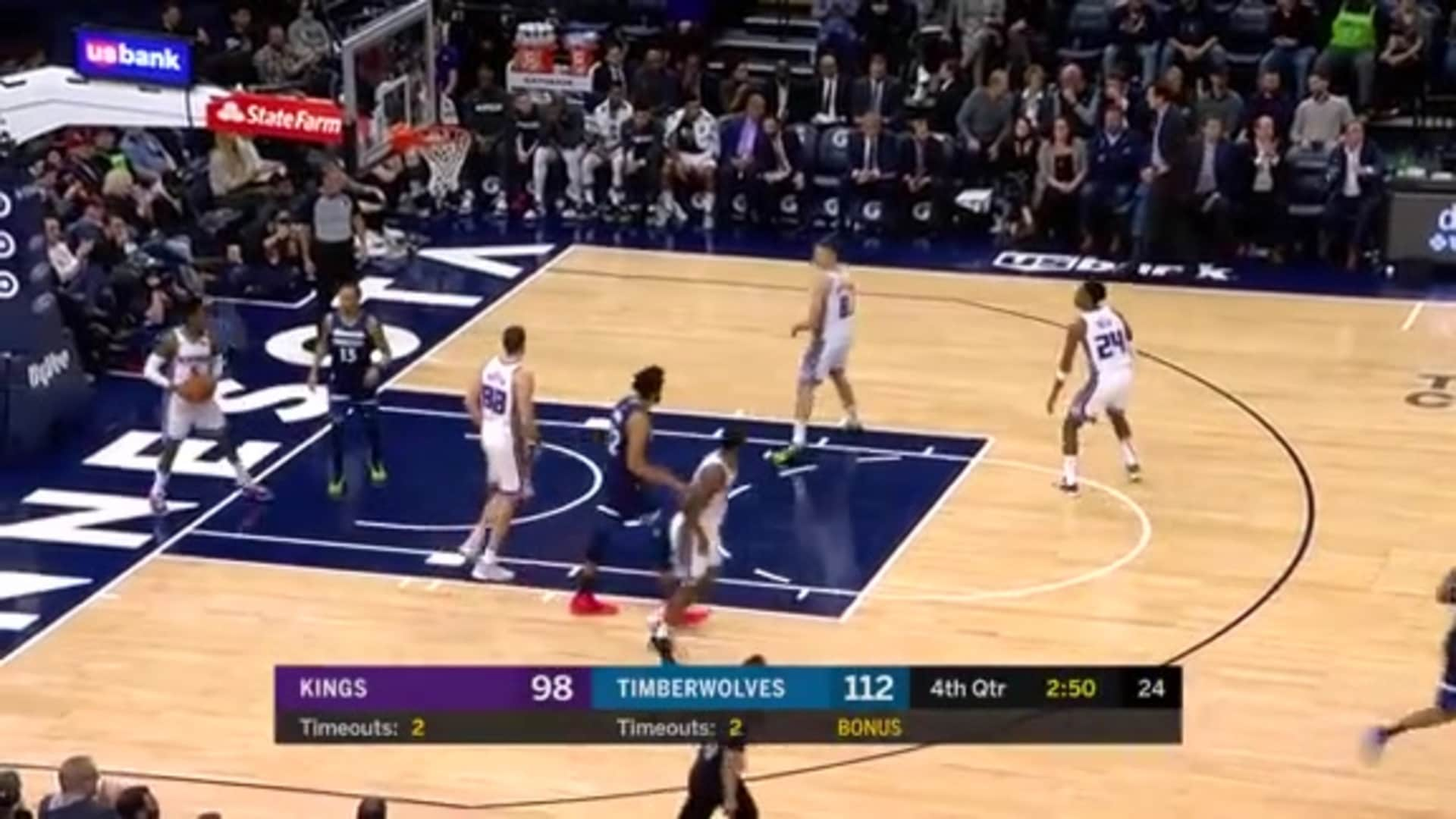 Timberwolves Make Franchise-Record 23 3-Pointers vs. Kings (1.27.20)