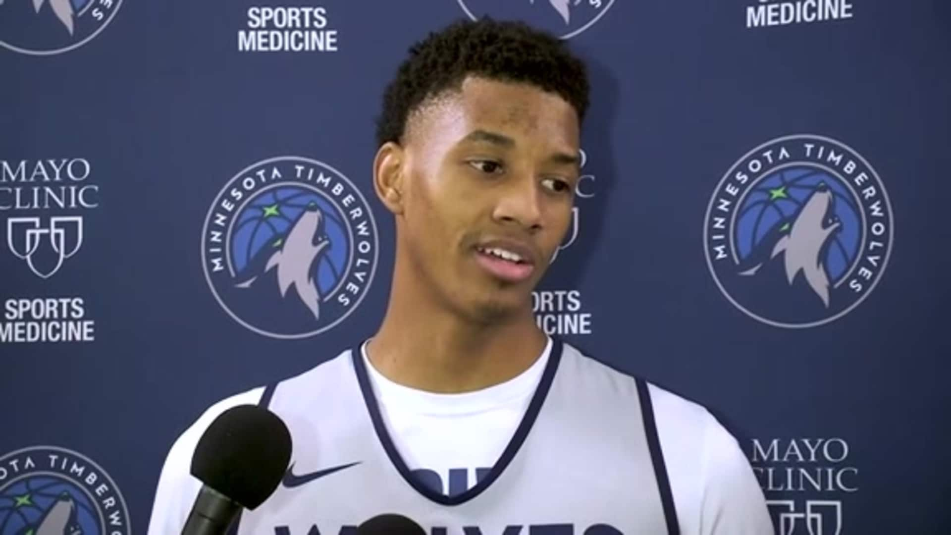 Timberwolves Guard Jarrett Culver On Playing With D'Angelo Russell (2.21.20)