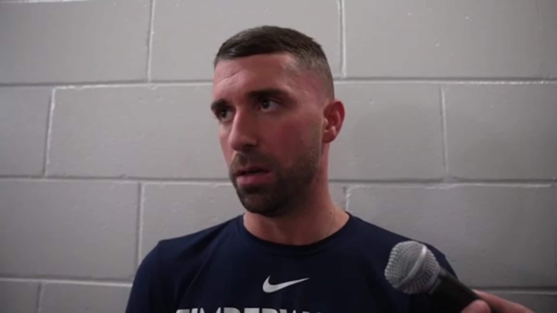 Timberwolves Coach Ryan Saunders On James Johnson's Leadership (2.26.20)