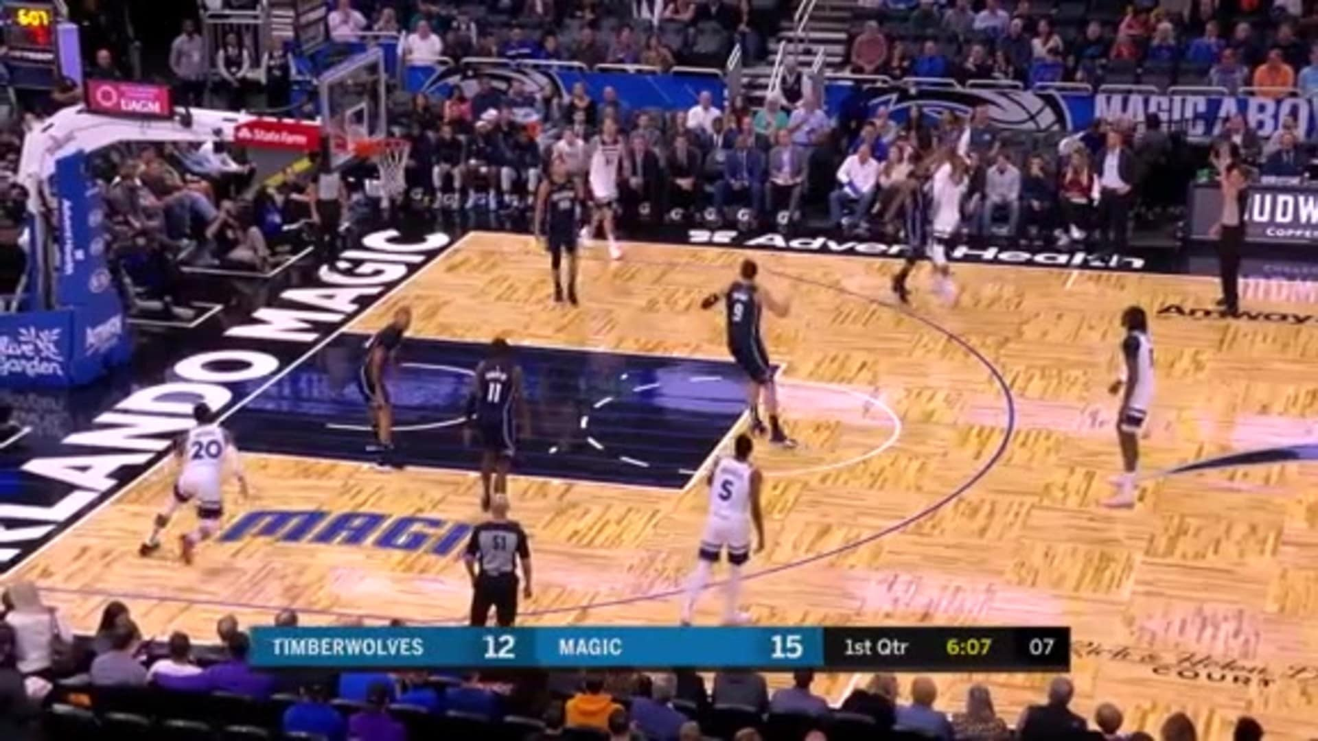 Russell Hits A Contested 3 To Tie The Game