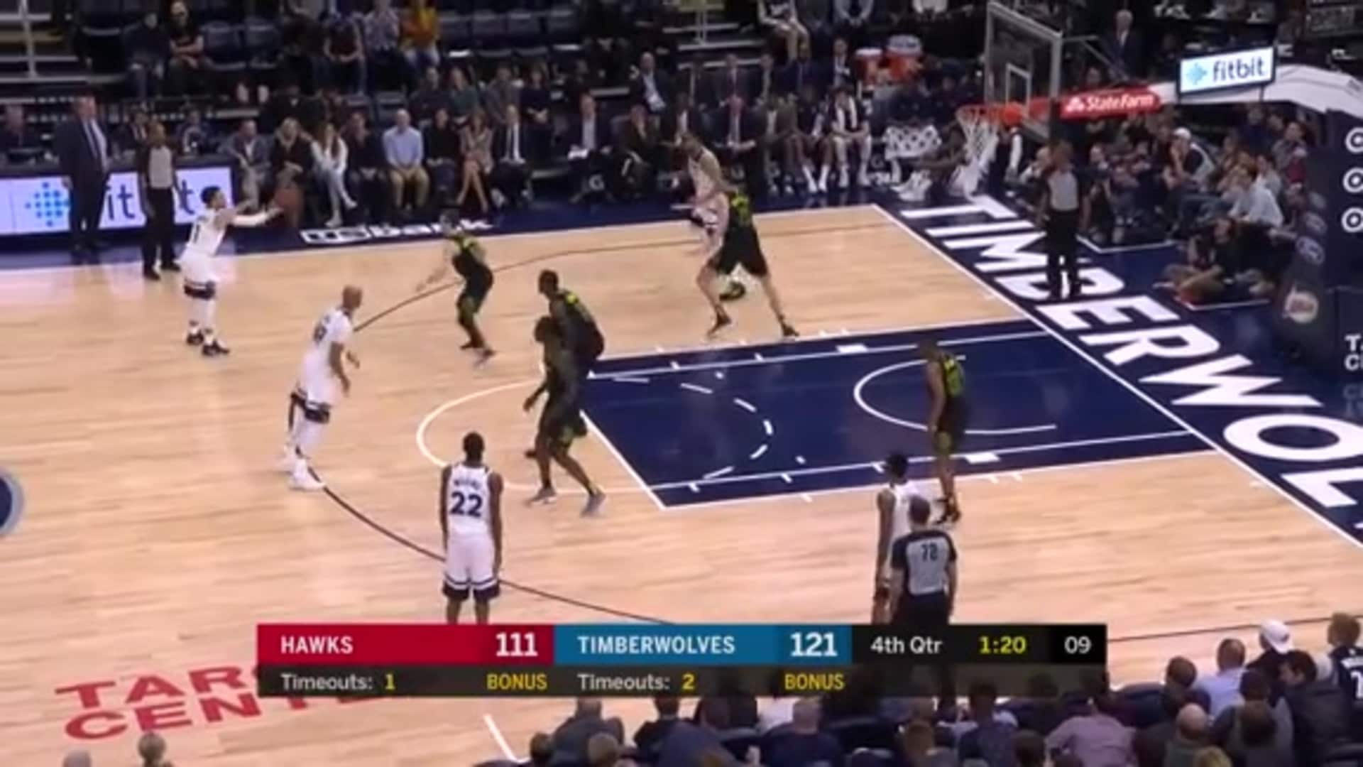 History Vault | Karl-Anthony Towns Scores Franchise-Record 56 Points vs. Hawks (3.28.18)