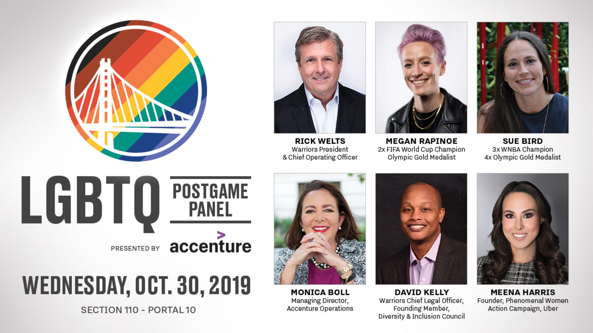 LGBTQ Night Postgame Panel, Presented by Accenture