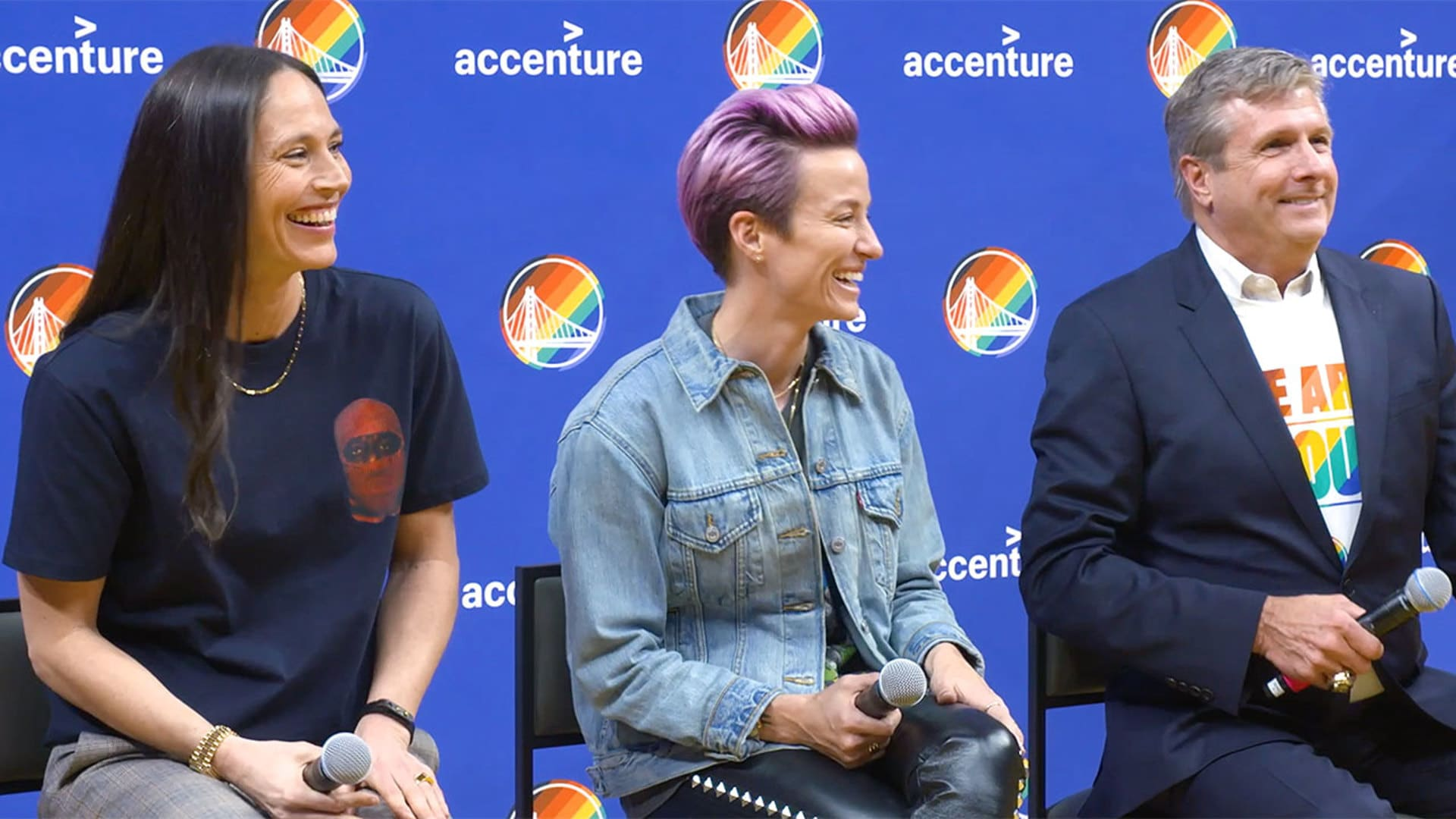 All Access: Sue Bird and Megan Rapinoe Visit Chase Center