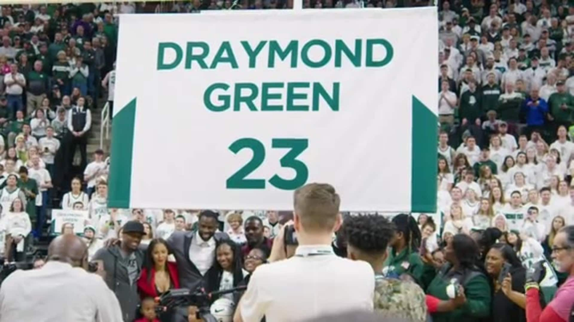 All Access: Draymond Green's No. 23 Retired by Michigan State