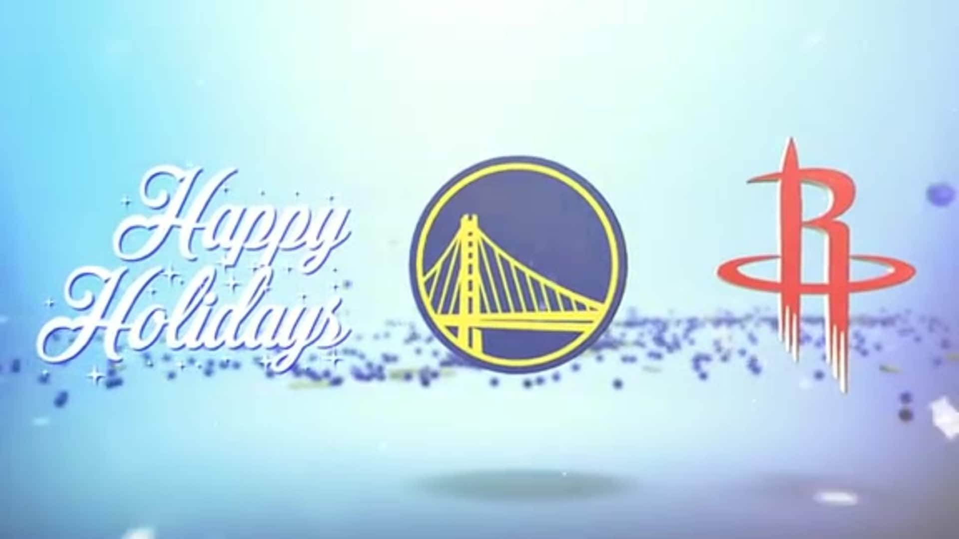 Dubs Host the Houston Rockets on Christmas
