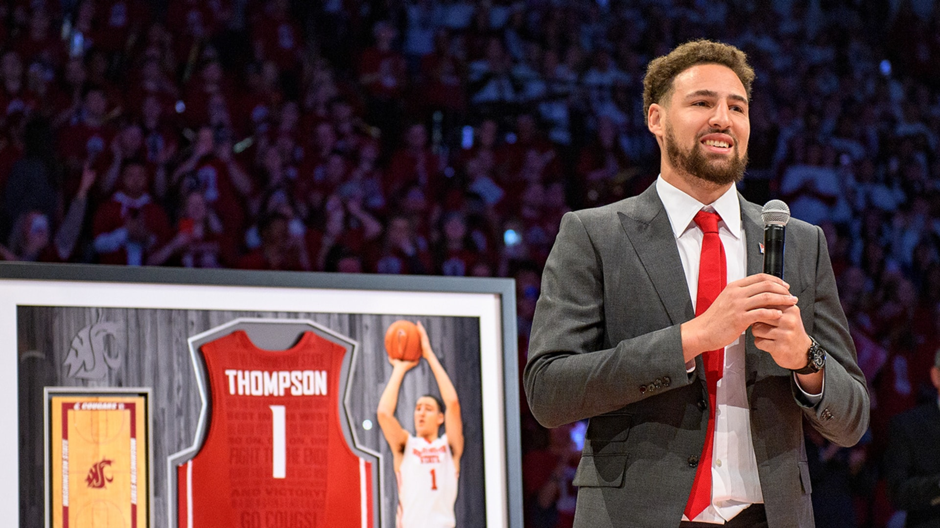 All-Access: Klay Thompson College Jersey Retirement