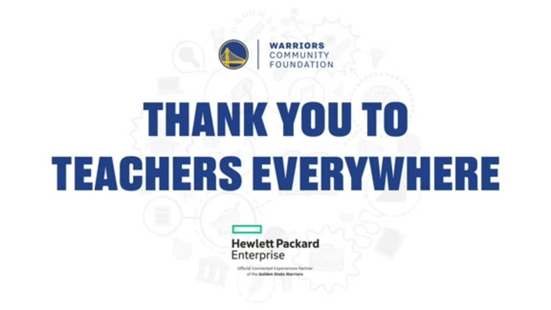 Damion Lee Surprises SF Unified School District with $125,000 Donation from Warriors Community Foundation and HPE