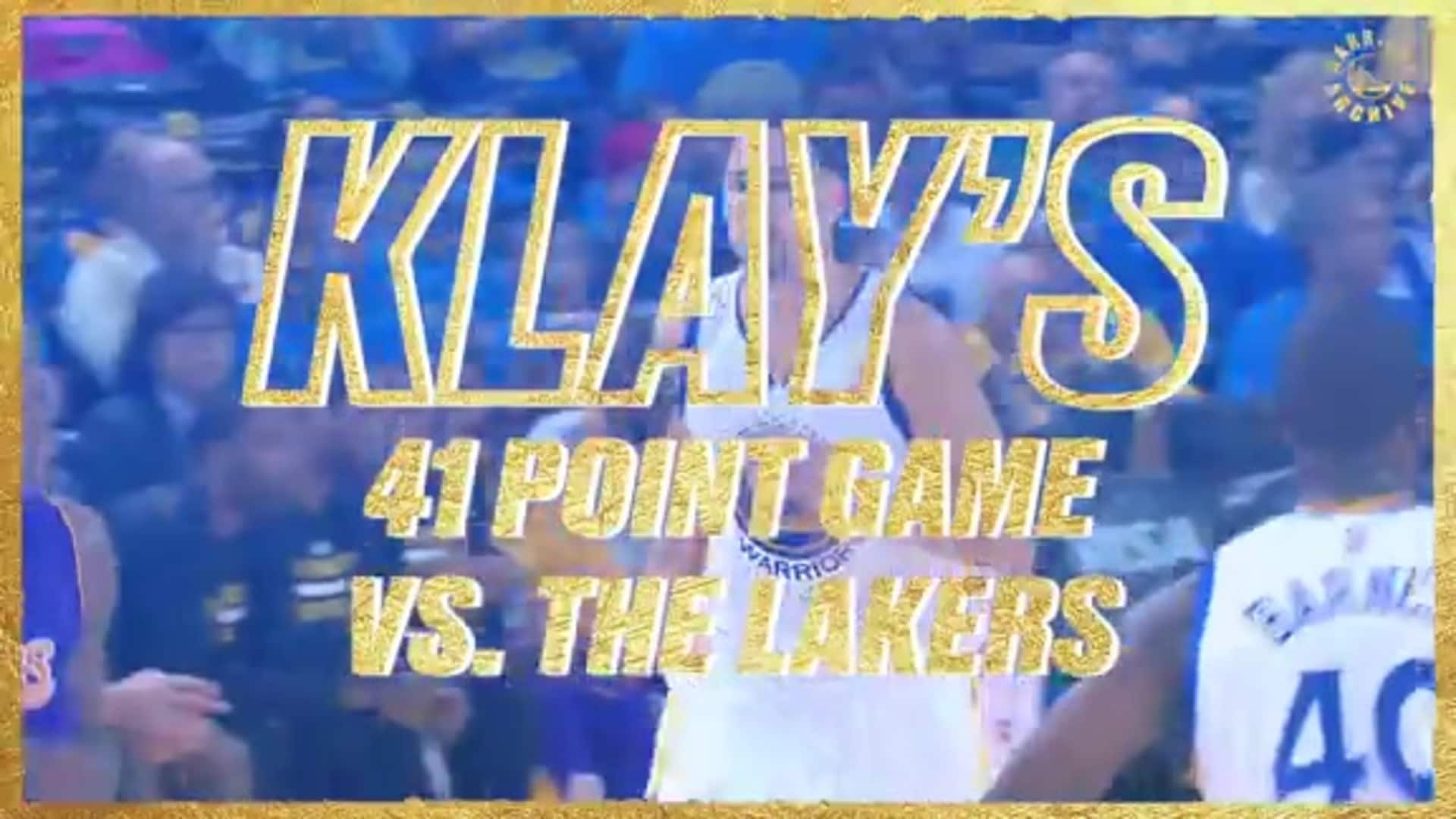Warriors Archive: Klay Drops 41 on Kobe and Lakers