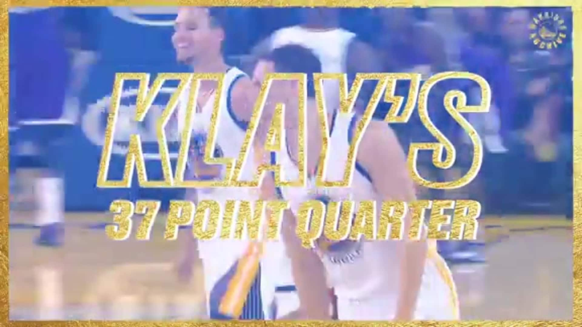 Warriors Archive: Thompson Posts NBA-Record 37 Points in a Quarter