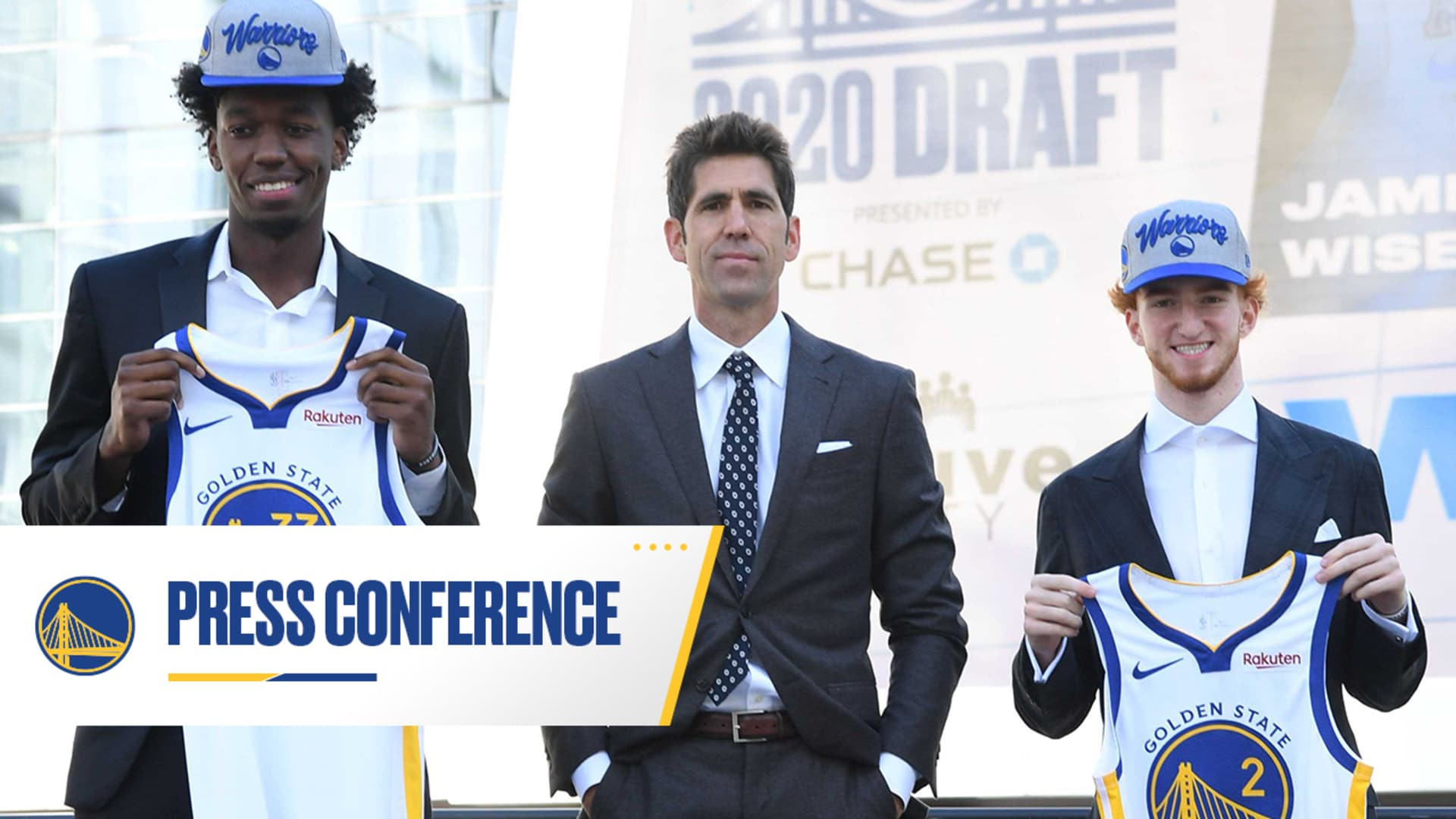 Warriors Introduce James Wiseman and Nico Mannion