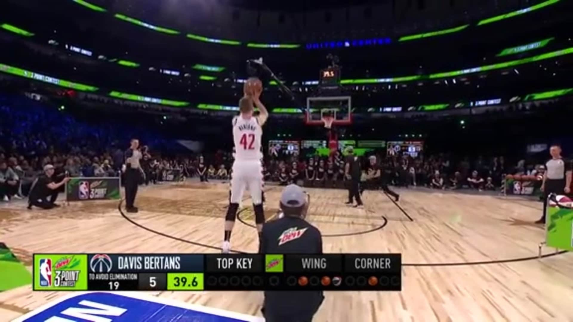 Davis Bertans Opening Round 2020 NBA All-Star 3-Point Contest