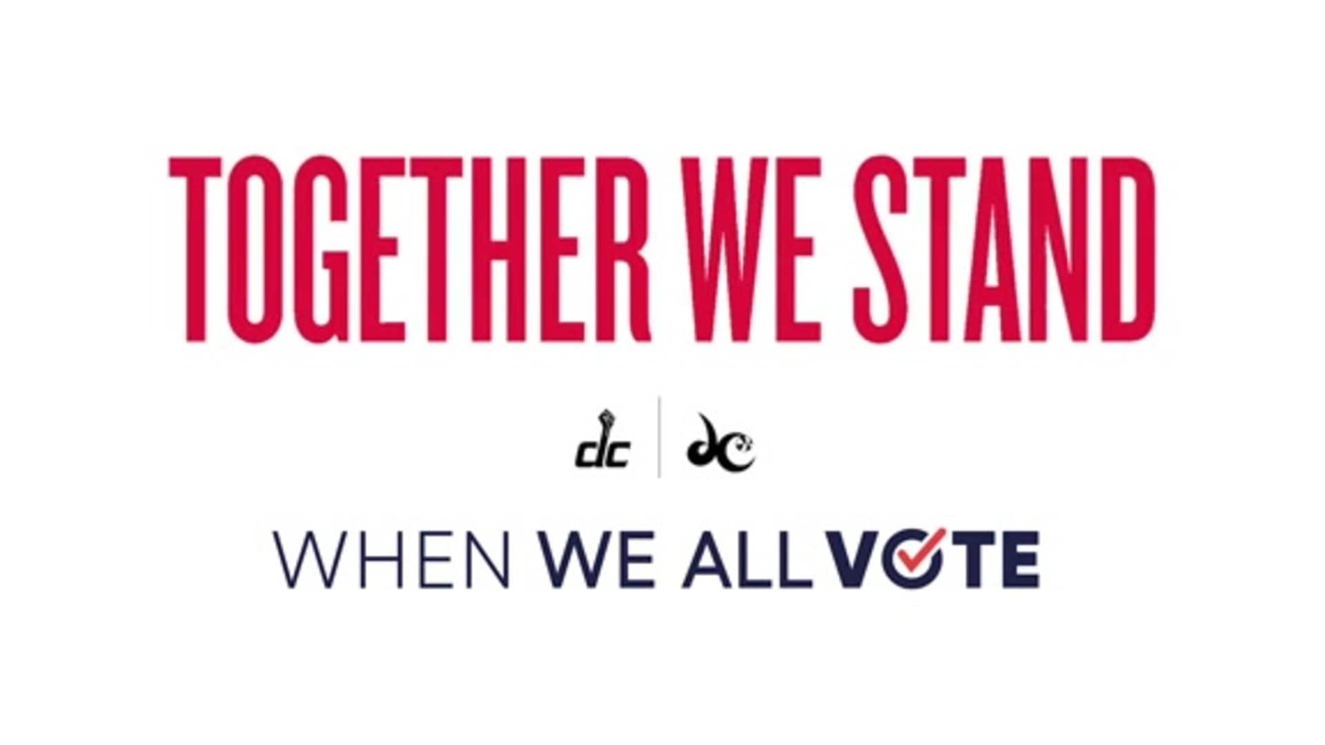 Wizards, Mystics launch voting PSA with When We All Vote