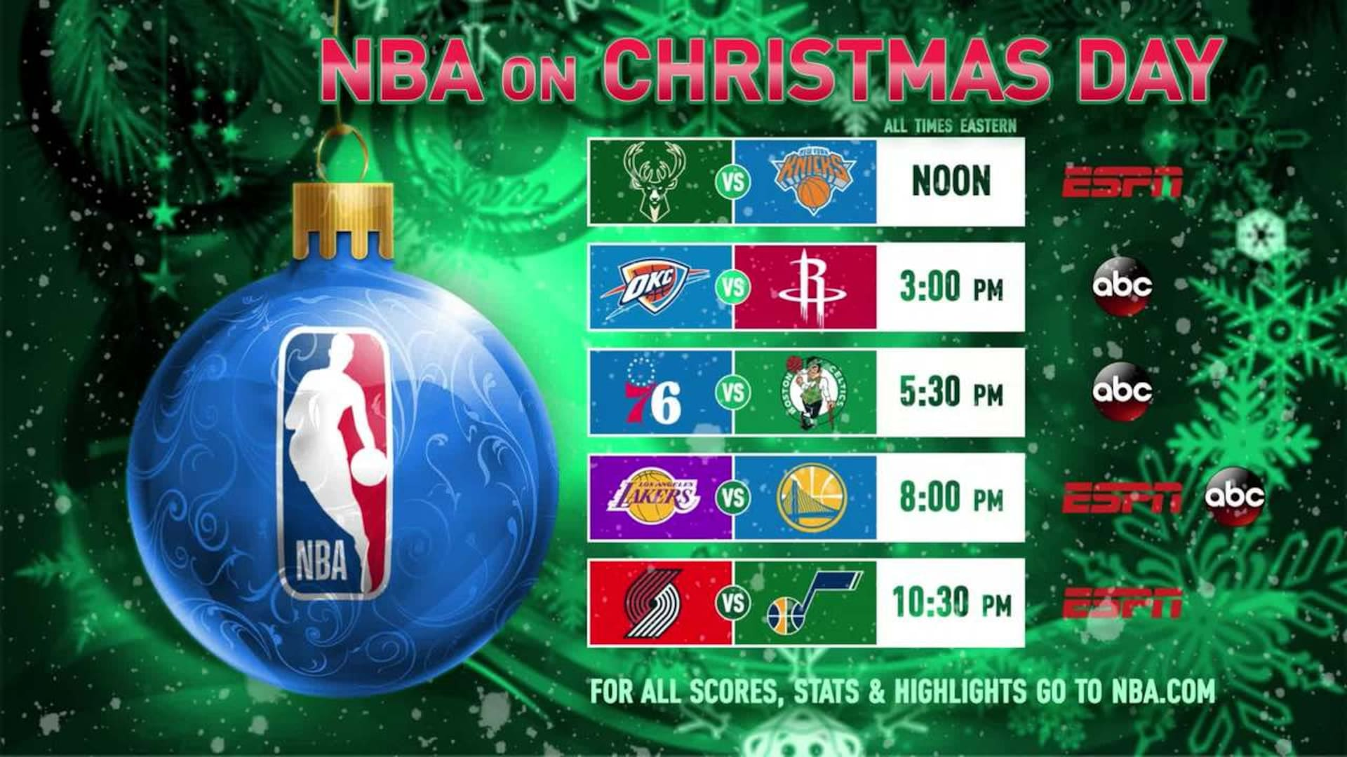 Nba Christmas Day Schedule.Reasons To Watch Nba On Christmas Day Nba Com