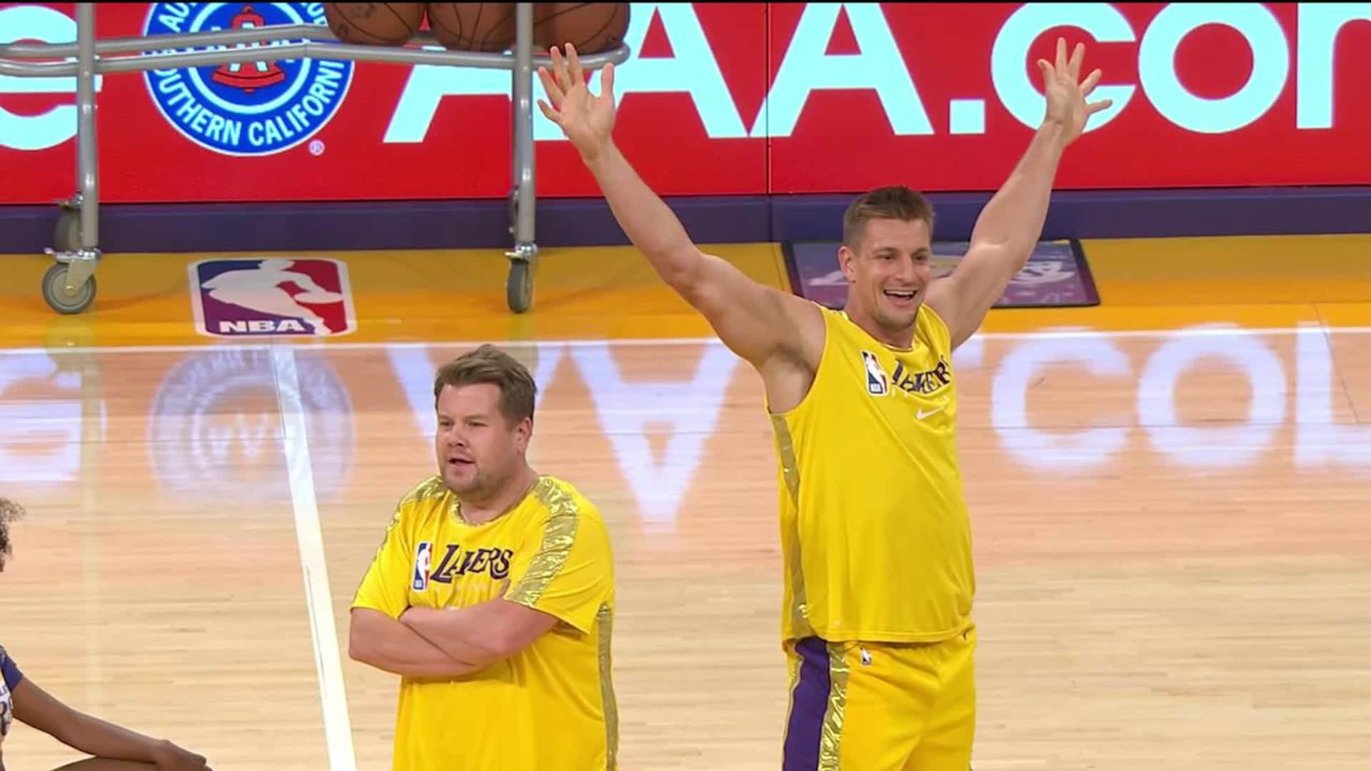 Gronk Corden And Venus Join The Laker Girls Nba Com
