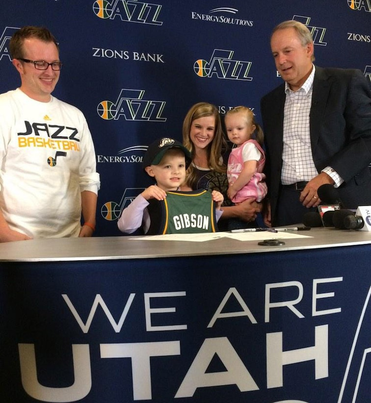 Jazz Sign Five-Year-Old JP Gibson for Scrimmage