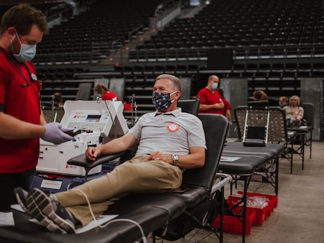 Vivint Smart Home Arena transformed into donation center for Driven to Assist blood drive