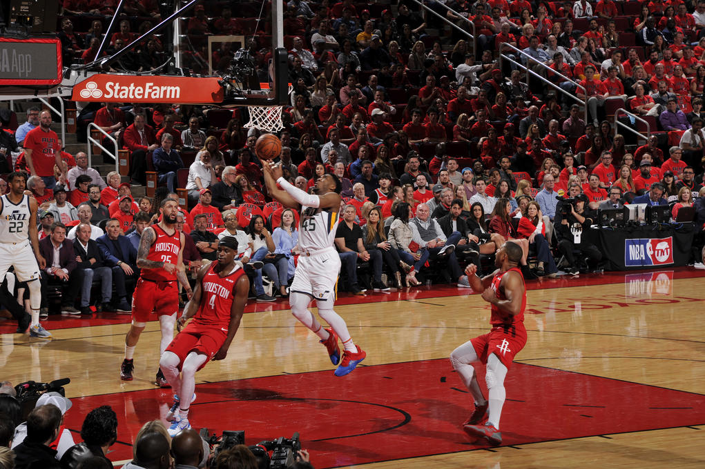 d91734d99ea9 James Harden expects Donovan Mitchell to be  twice as aggressive  when the  Jazz and Rockets meet for Game 2