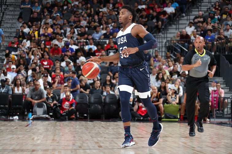 timeless design 769fc 7be55 Despite notable Team USA absences, Donovan Mitchell sets his ...