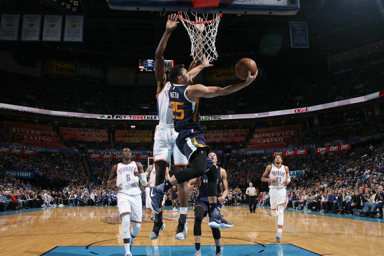 Emptying the Noggin Despite a nice rally Jazz's game against the Thunder was never close