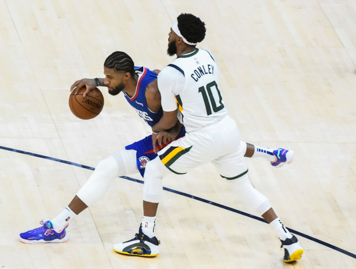 Mike Conley Ties Career High With Seven 3 Pointers In Utah Jazz S Win Over L A Clippers Utah Jazz