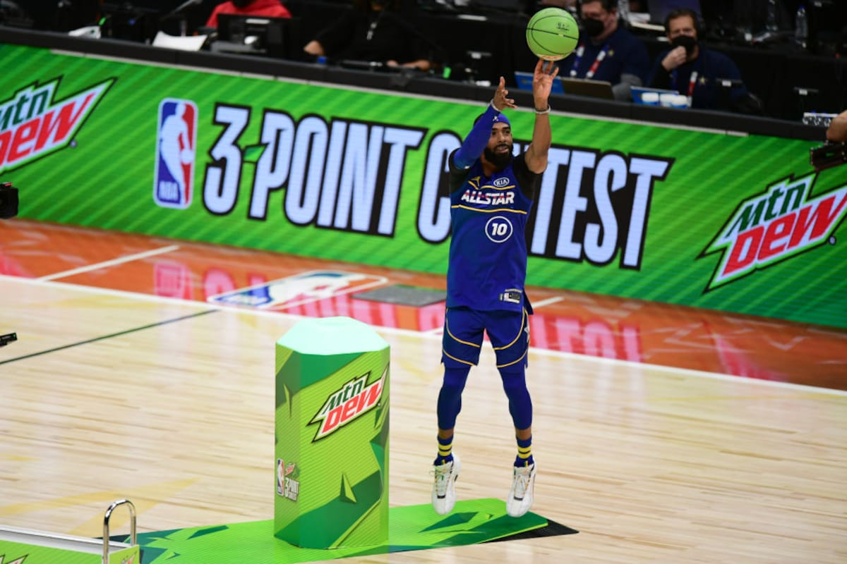 Steph Curry beats Mike Conley on the last shot of the NBA 3-Point Contest    Utah Jazz