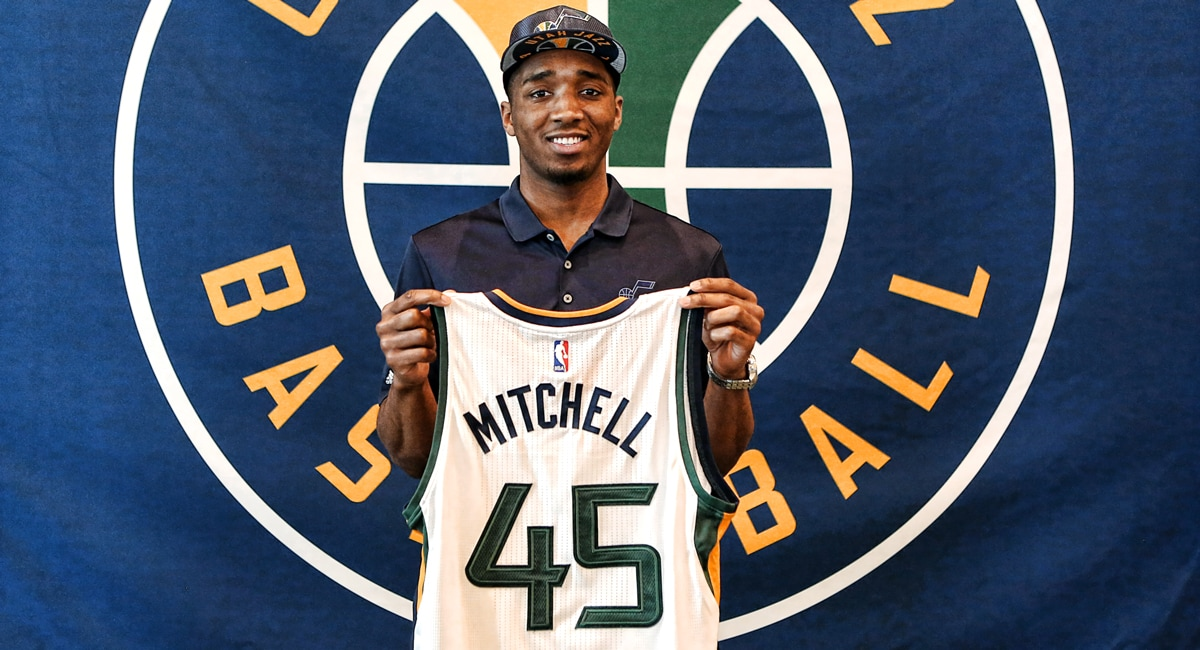 Jazz Sign 2017 Draft Pick Donovan Mitchell | Utah Jazz