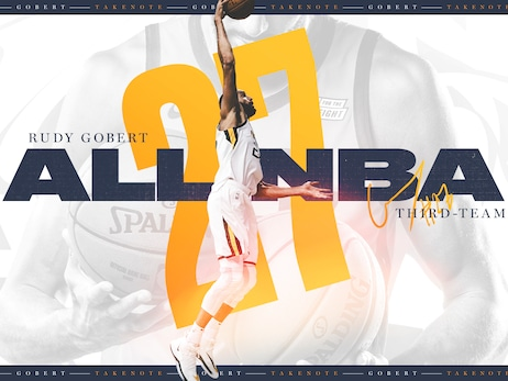 Rudy Gobert Named to All-NBA Third Team