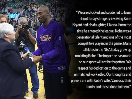 Miller Family and Utah Jazz statement on the passing of Kobe Bryant