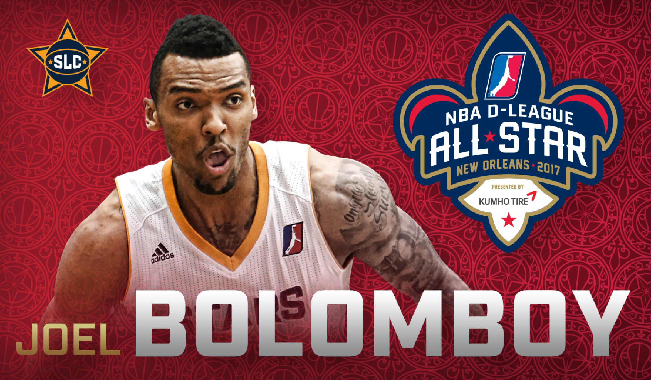 Home all star all star game 2015 comprare canotta nba all - Joel Bolomboy Named 2017 Nba D League All Star Utah Jazz