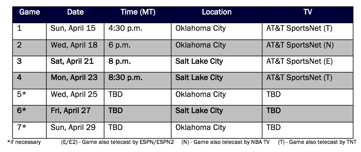 Jazz Open 2018 NBA Playoffs April 15 against the Oklahoma ...