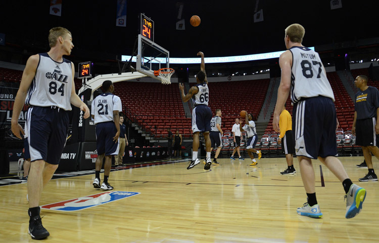 Shootaround prior to Jazz vs. Sixers Summer League Game