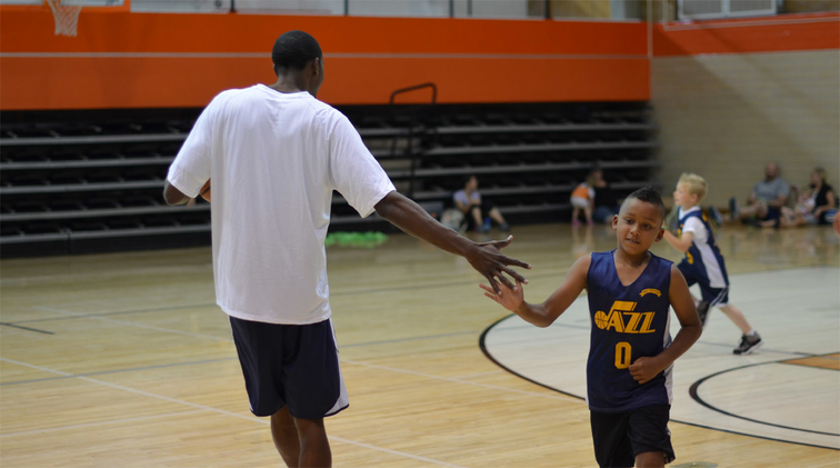 Jeremy Evans and Jr. Jazz