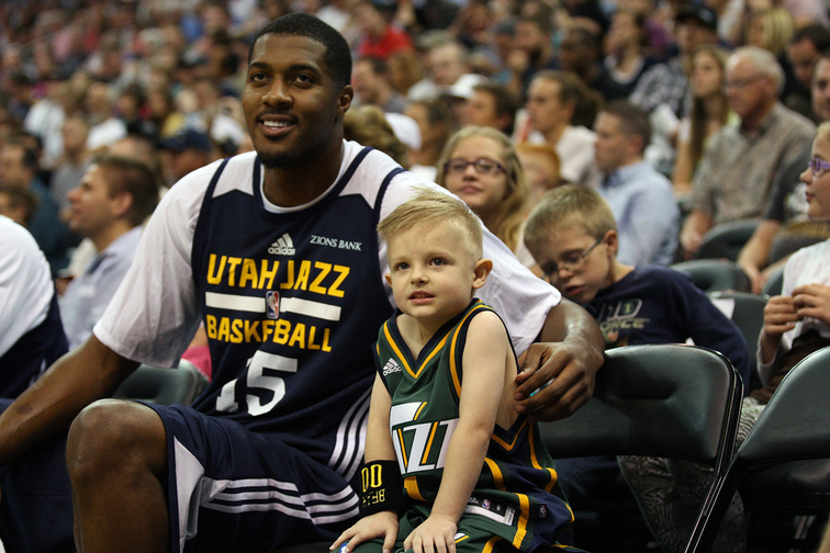 Derrick Favors and JP Gibson