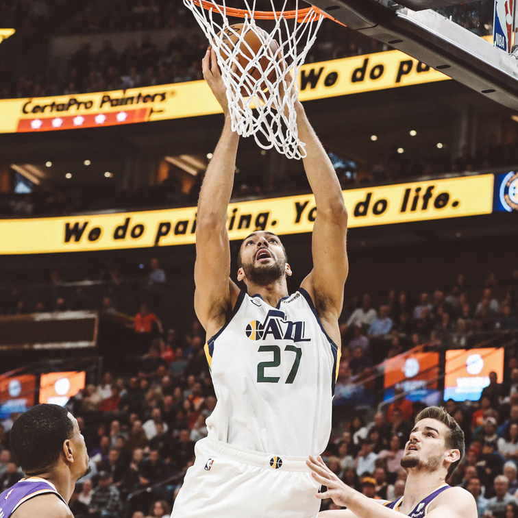 5be02bcff11 Rudy Gobert sets new NBA single-season dunk record | Utah Jazz